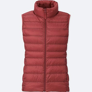 Women Ultra Light Down Vest, PINK, medium