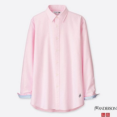MEN JWA OXFORD LONG-SLEEVE SHIRT, PINK, medium
