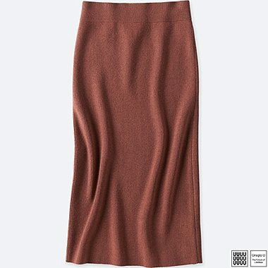 WOMEN UNIQLO U MERINO BLEND LINED SKIRT