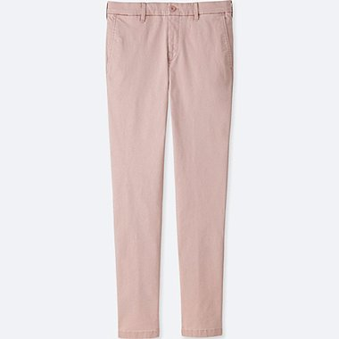 MEN ULTRA STRETCH SKINNY CHINO PANTS, PINK, medium