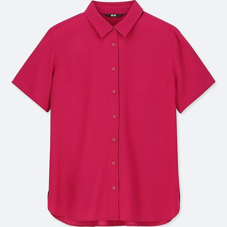 WOMEN RAYON SHORT-SLEEVE BLOUSE at UNIQLO in Brooklyn, NY | Tuggl