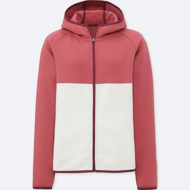 WOMEN DRY SWEAT LONG SLEEVE FULL-ZIP HOODIE