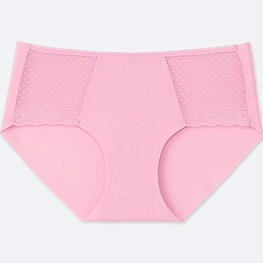 WOMEN AIRism ULTRA HIPHUGGER SEAMLESS SHORTS, PINK, medium