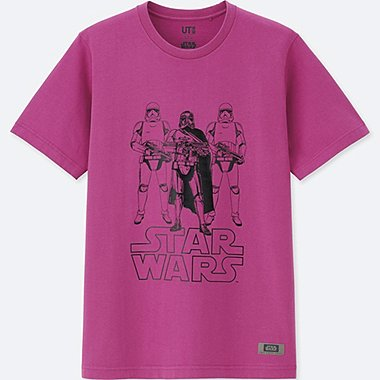 MEN STAR WARS: THE LAST JEDI GRAPHIC T-SHIRT, PINK, medium