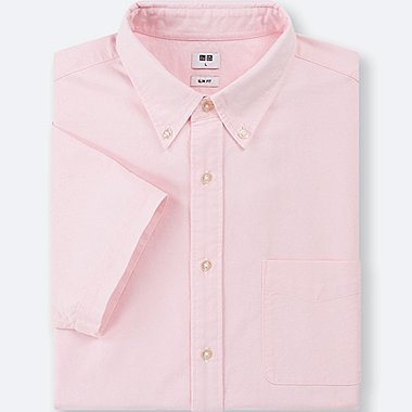 MEN EASY CARE OXFORD SLIM FIT SHORT SLEEVE SHIRT