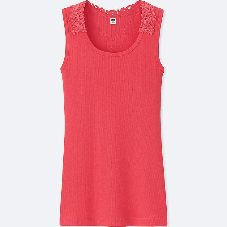 WOMEN 100% COTTON Back Lace Tank Top