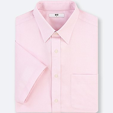 MEN DRY EASY CARE DOBBY SHORT-SLEEVE SHIRT (ONLINE EXCLUSIVE), PINK, medium