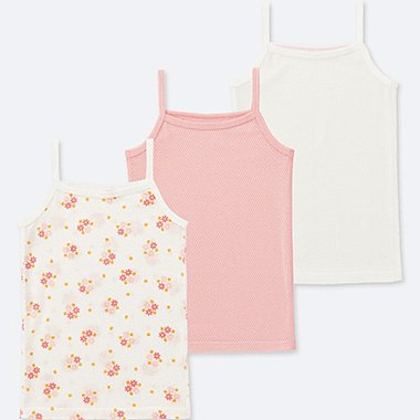 TODDLER COTTON MESH CAMISOLE (SET OF 3), PINK, medium