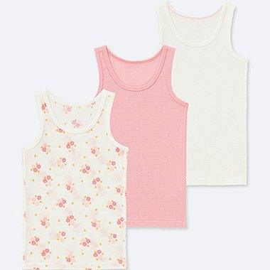 TODDLER COTTON MESH TANK TOP (SET OF 3), PINK, medium