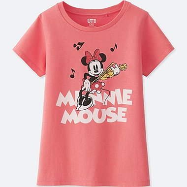 GIRLS SOUNDS OF DISNEY GRAPHIC T-SHIRT, PINK, medium