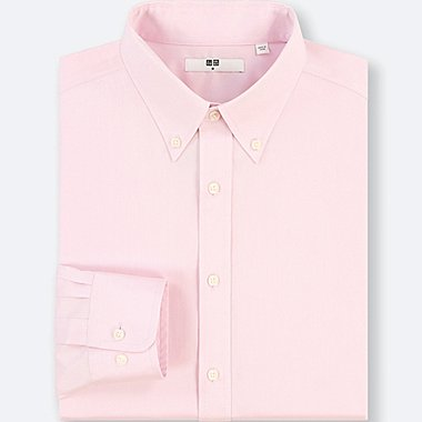 MEN EASY CARE DOBBY REGULAR-FIT LONG-SLEEVE SHIRT(ONLINE EXCLUSIVE), PINK, medium