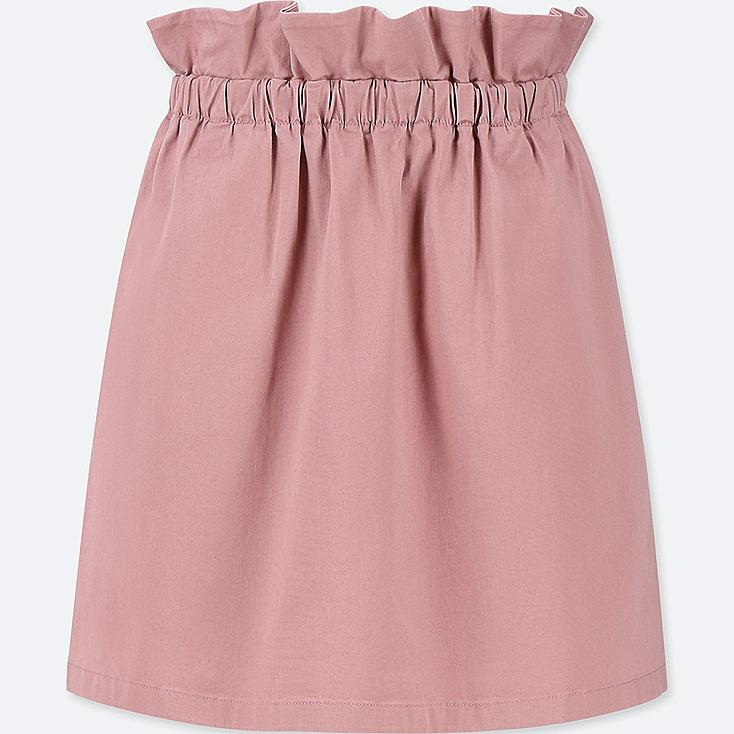 GIRLS GATHERED SKIRT, PINK, large