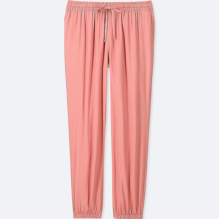 WOMEN DRAPE JOGGER PANTS, PINK, large