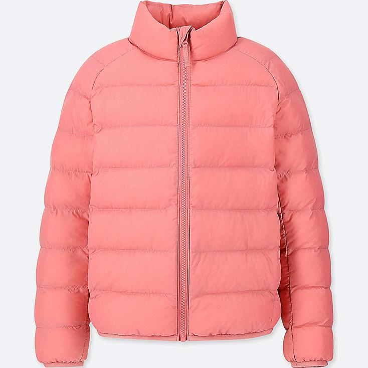 KIDS LIGHT WARM PADDED JACKET, PINK, large