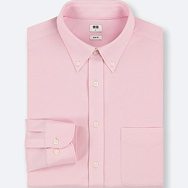 MEN EASY CARE COMFORT LONG-SLEEVE SHIRT, PINK, medium