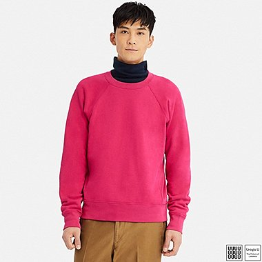 MEN U LONG-SLEEVE SWEATSHIRT, PINK, medium