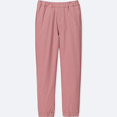 KIDS WARM-LINED JOGGER PANTS, PINK, medium