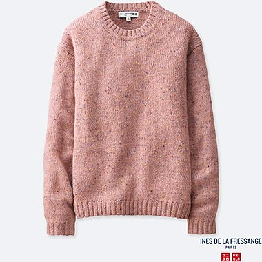 WOMEN INES WOOL BLEND NEP SLUB CREW NECK JUMPER