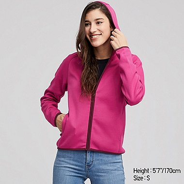WOMEN DRY SWEAT LONG SLEEVED ZIPPED HOODIE