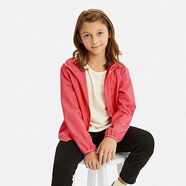 KIDS POCKETABLE PARKA, PINK, medium