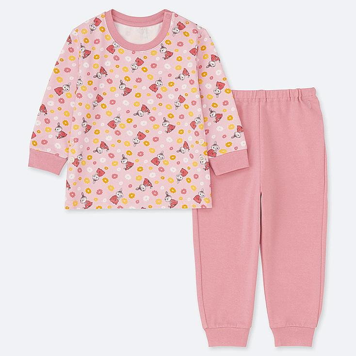 TODDLER MOOMIN LONG-SLEEVE PAJAMAS, PINK, large
