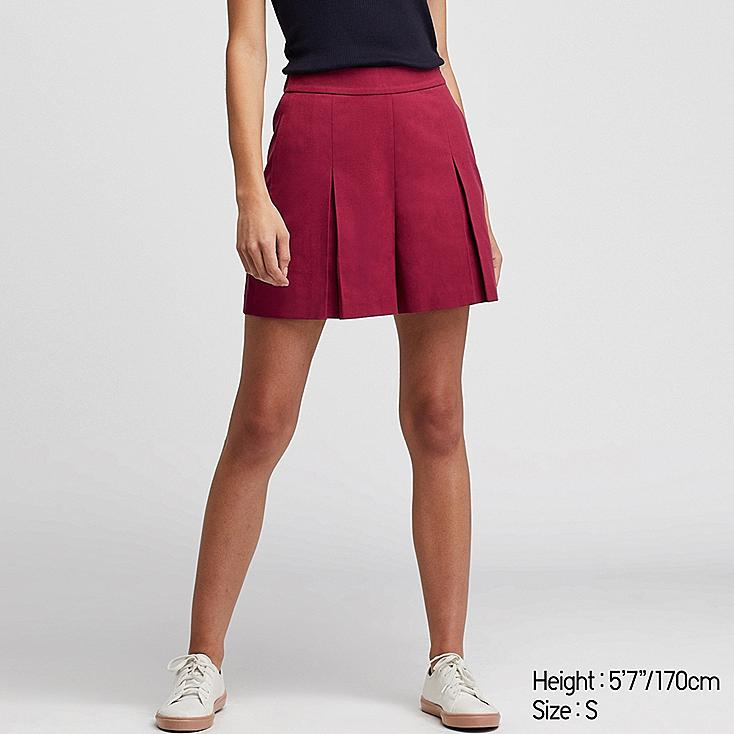WOMEN TUCKED SHORTS (ONLINE EXCLUSIVE), PINK, large