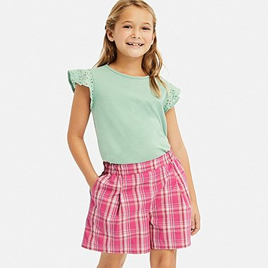 GIRLS EASY FLARE SHORTS, PINK, medium