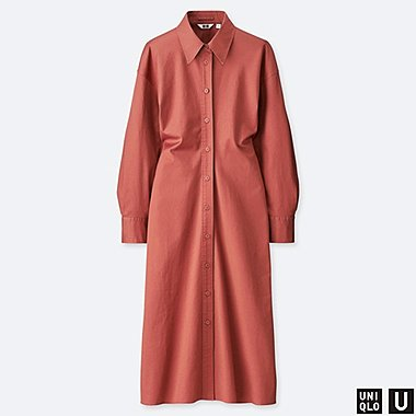 WOMEN UNIQLO U LONG SLEEVED SHIRT DRESS