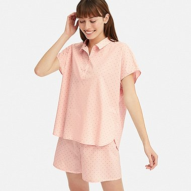 WOMEN SOFT STRETCH SHORT-SLEEVE PAJAMAS, PINK, medium