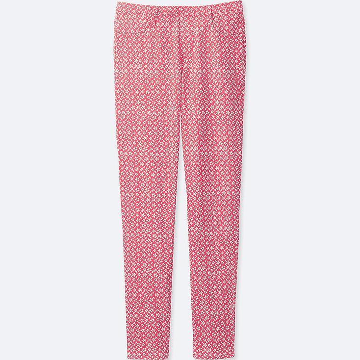 Girls Elastic Waist Knit Pants, RED, large