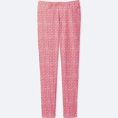 Girls Elastic Waist Knit Pants, RED, medium