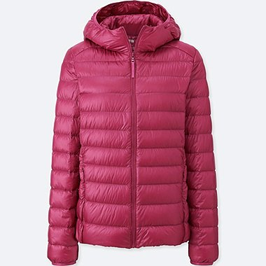 WOMEN ULTRA LIGHT DOWN PARKA, RED, medium