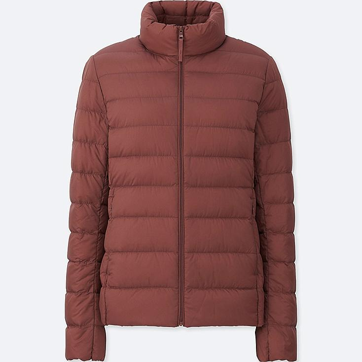 Women Ultra Light Down Jacket, RED, large