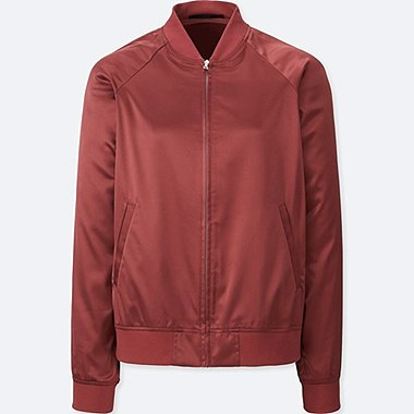 WOMEN SATIN BOMBER JACKET