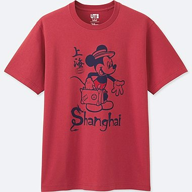 MEN MICKEY TRAVELS SHORT-SLEEVE GRAPHIC T-SHIRT, RED, medium