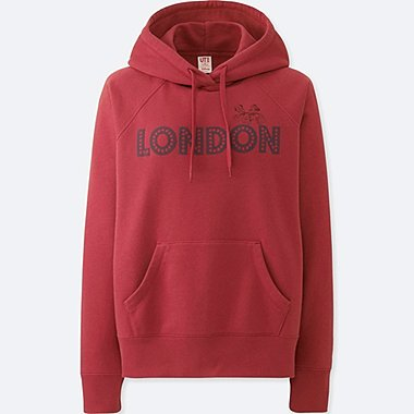 WOMEN MICKEY TRAVELS HOODIE, RED, medium
