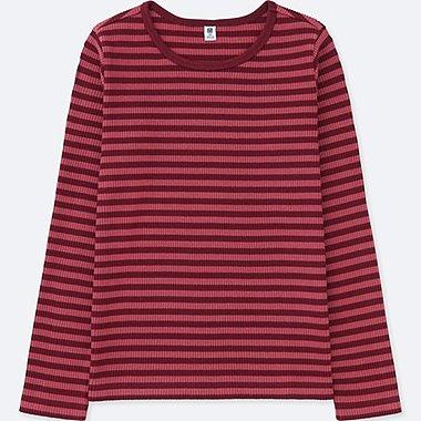 NIÑA Camiseta manga larga cuello redondo rallas