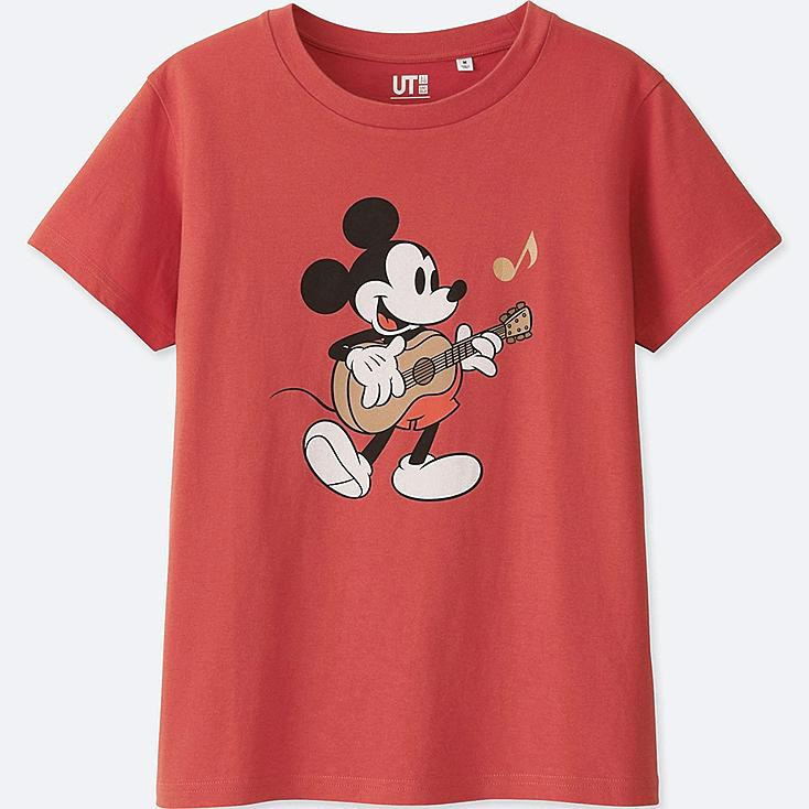 WOMEN SOUNDS OF DISNEY SHORT-SLEEVE GRAPHIC T-SHIRT, RED, large
