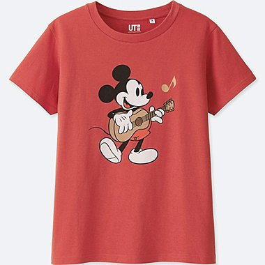 WOMEN SOUNDS OF DISNEY SHORT-SLEEVE GRAPHIC T-SHIRT, RED, medium