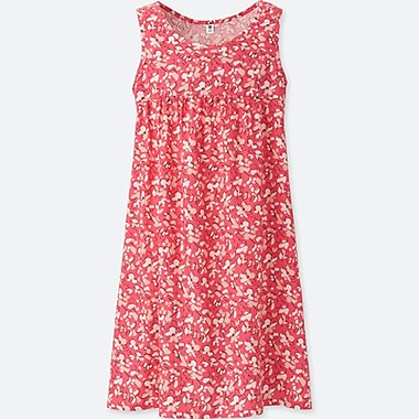 GIRLS GATHERED SLEEVELESS DRESS