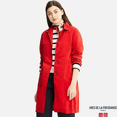 WOMEN IDLF SOUTIEN COLLAR COAT, RED, medium