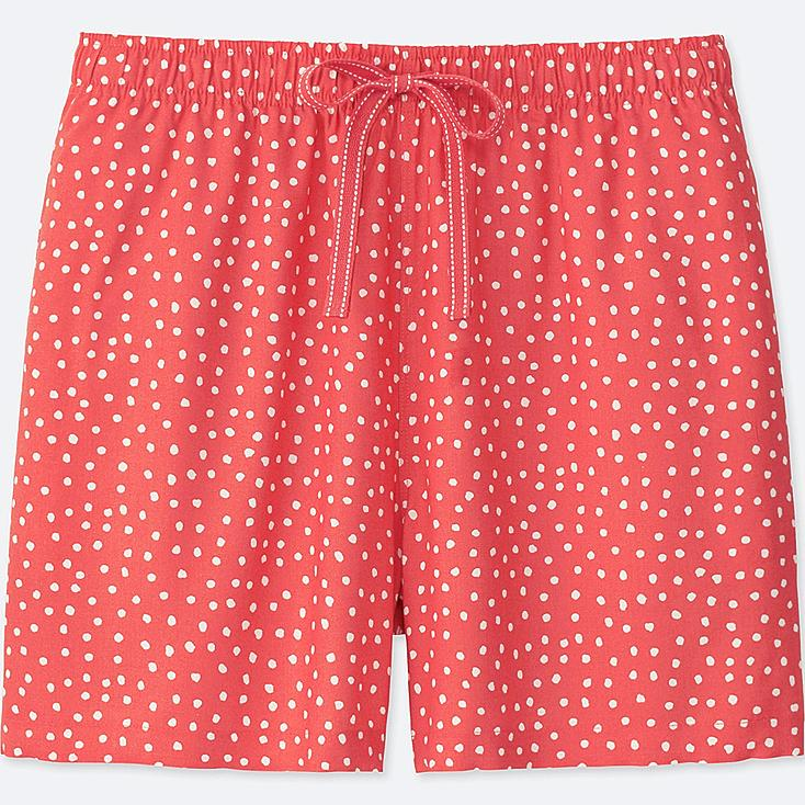 WOMEN DOT-PRINT RELACO SHORTS, RED, large