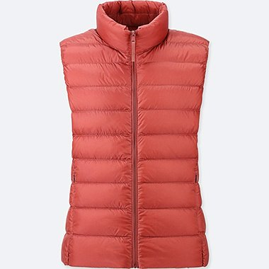 WOMEN ULTRA LIGHT DOWN VEST, RED, medium