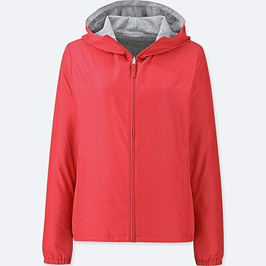 WOMEN REVERSIBLE PARKA, RED, medium