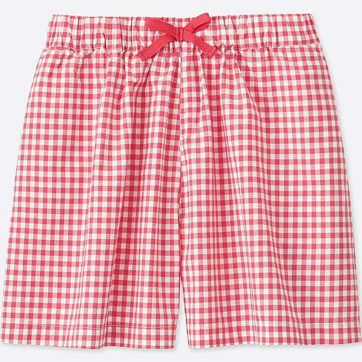 GIRLS FLARE SHORTS, RED, large