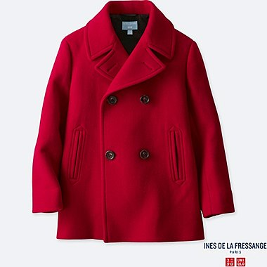 KIDS INES WOOL BLEND PEA COAT