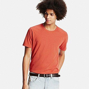 Mens Supima® Cotton Crew Neck T-Shirt, RED, medium