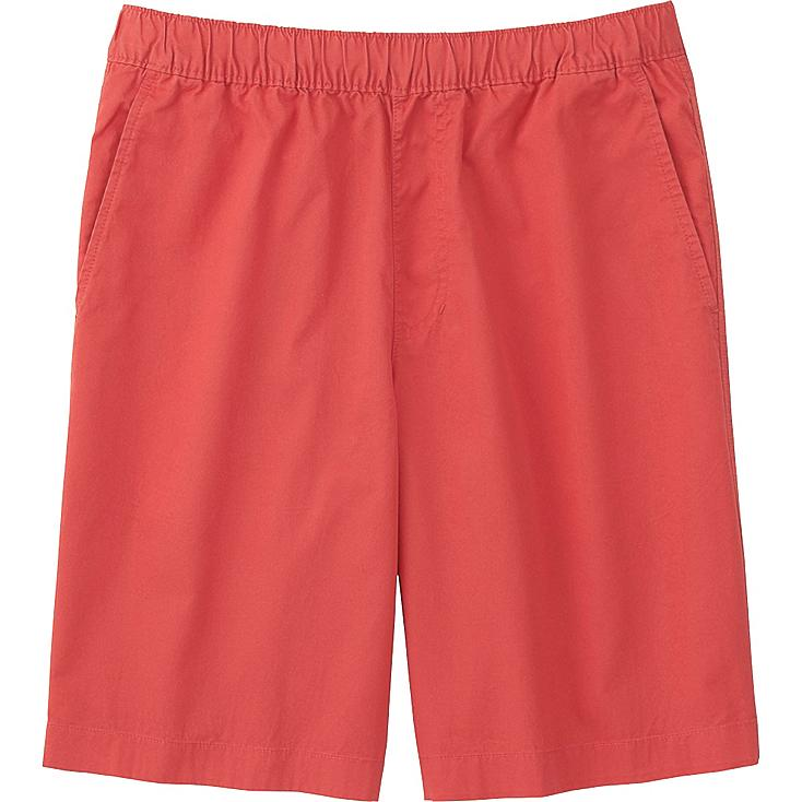 Men Twill Shorts, RED, large