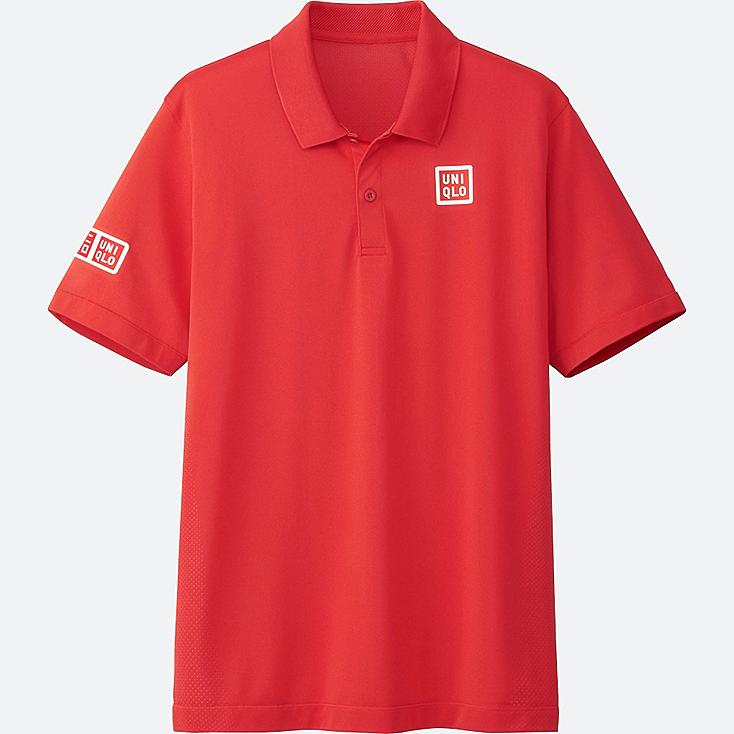 MEN NK DRY-EX SHORT SLEEVE POLO SHIRT 17AUS, RED, large