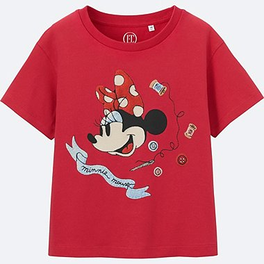 GIRLS Disney (Minnie Mouse Loves Dots) GRAPHIC T-SHIRT, RED, medium